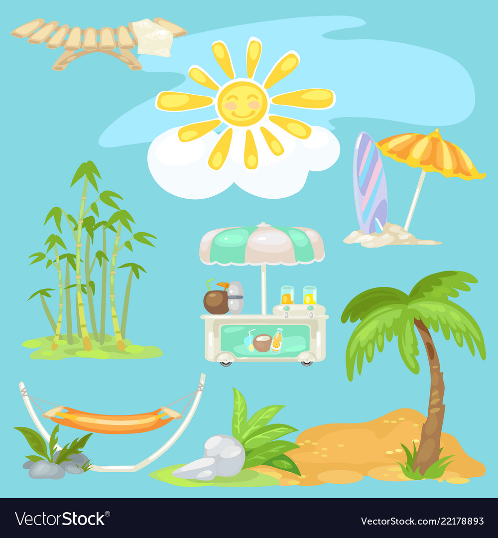 Cute poster on theme travel bright sun on the