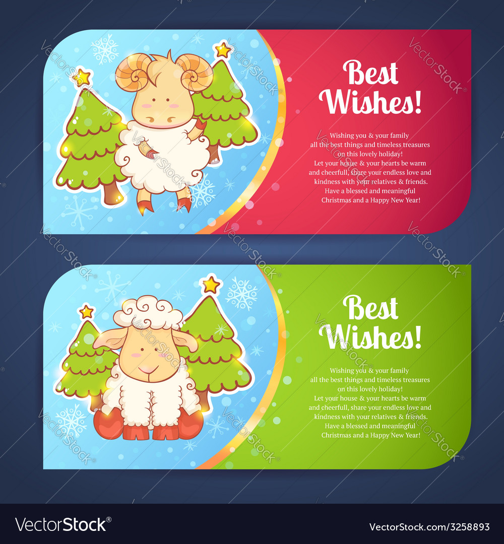 Cute winter Chinese new year card