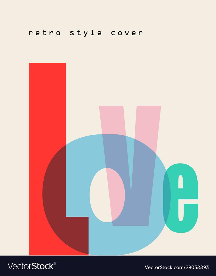 Design composition love font
