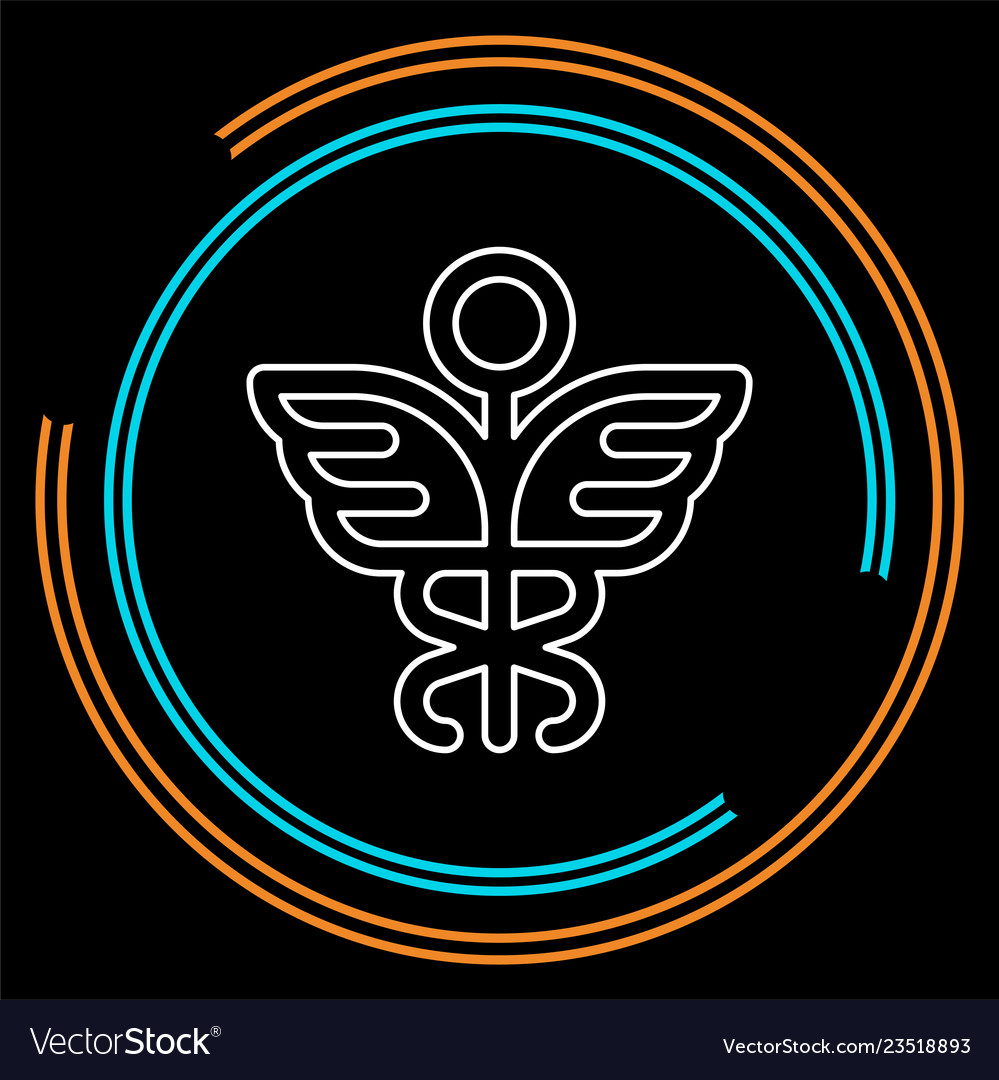 Medical symbol - caduceus icon - health sig