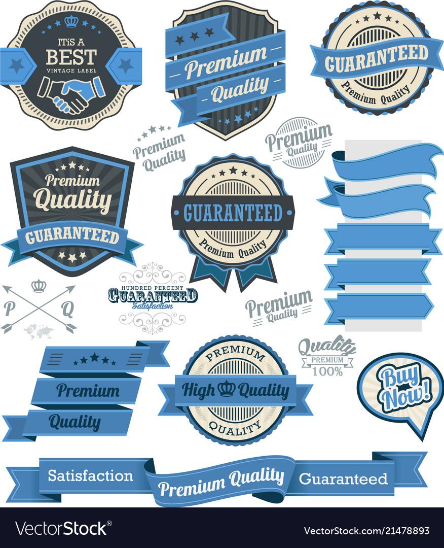Set of vintage badges and design elements