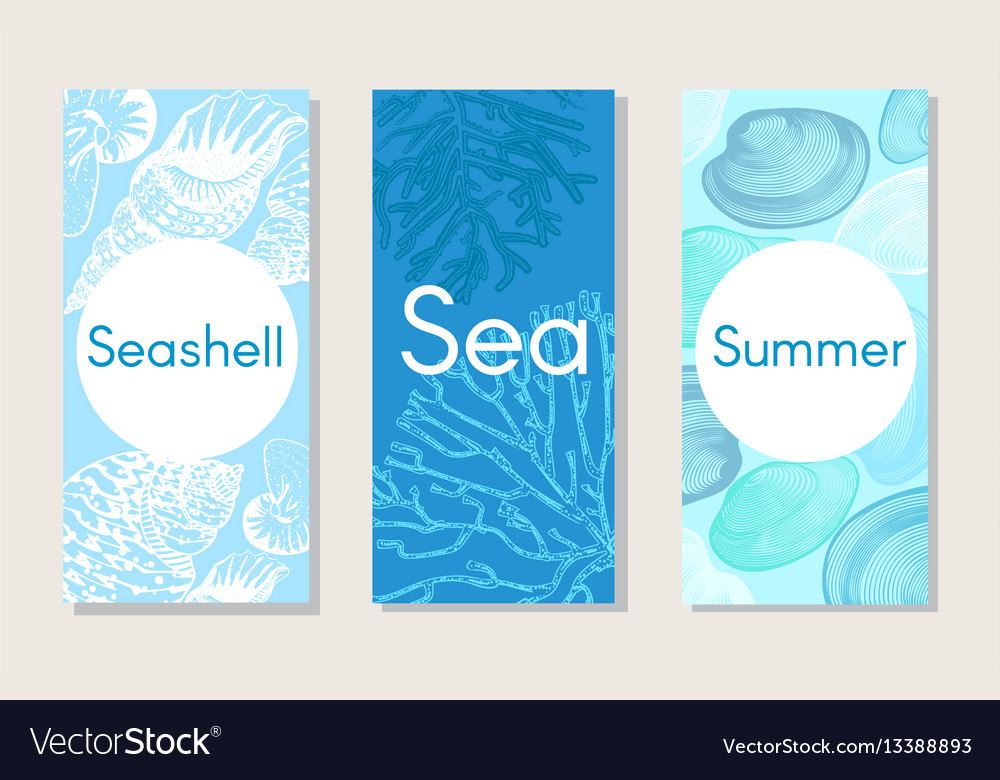 Sketch marine nature vertical banners