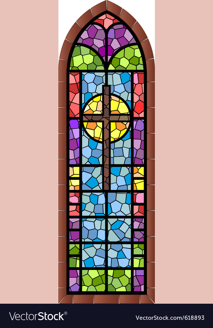 Stained Glass Window Royalty Free Vector Image