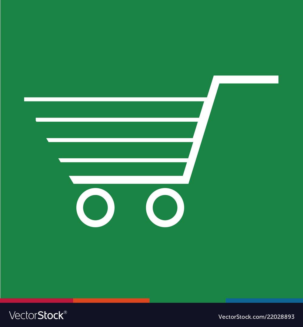 Thin line shopping cart icon design