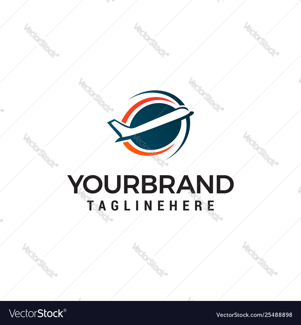 Airplane logo design concept template
