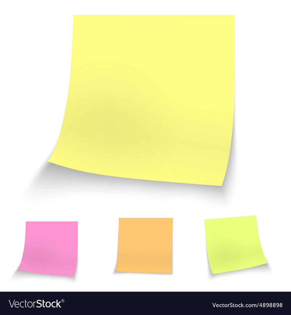 Color stick notes