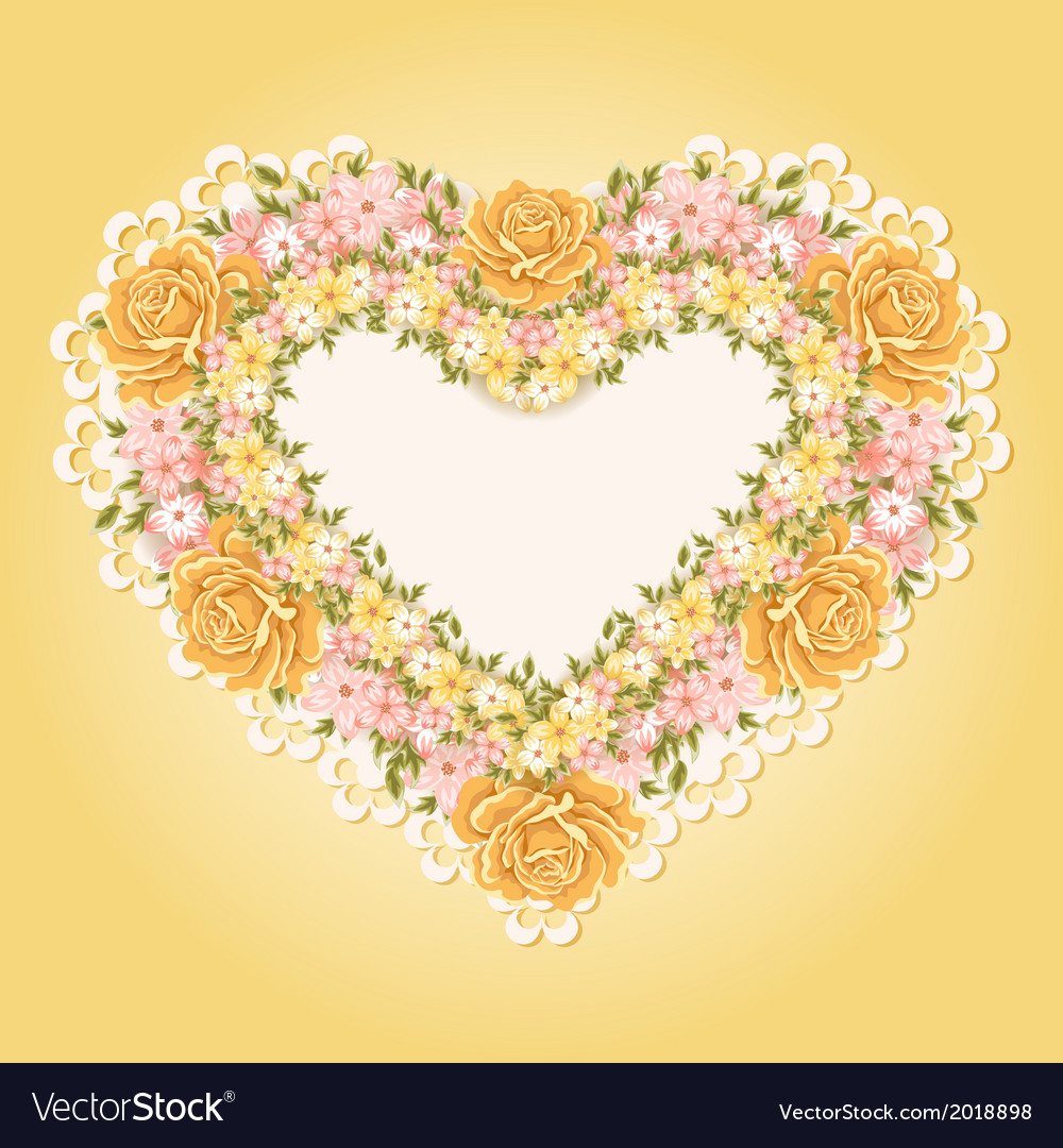 Greeting card with heart shape