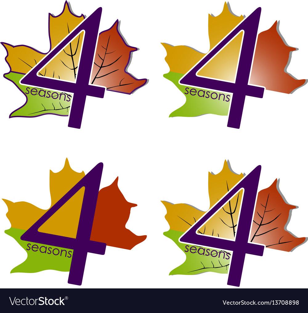 Set of logos four seasons vector image