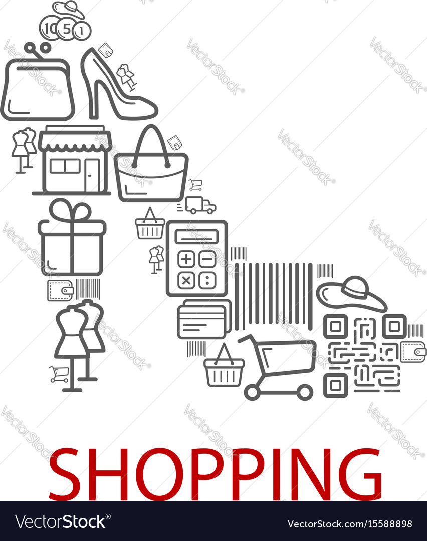 Shopping retail selling poster