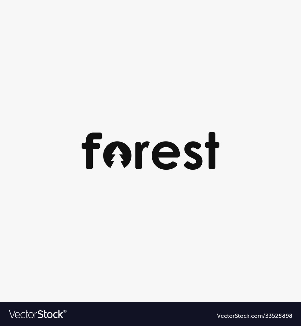 Simple wordmark pine forest logo icon template