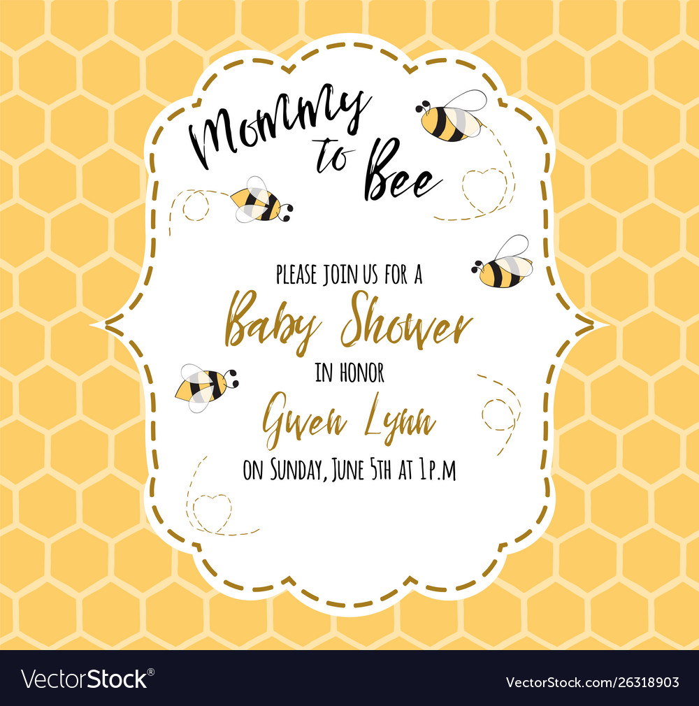 Bashower invitation template with text mommy to