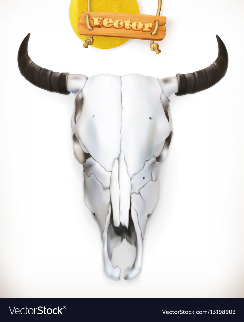 Cow skull Western adventure 3d icon