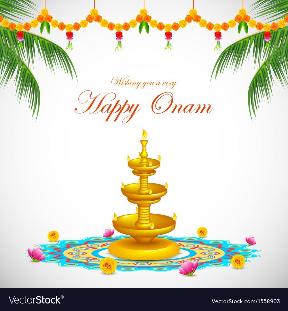 Happy Onam Royalty Free Vector Image Vectorstock