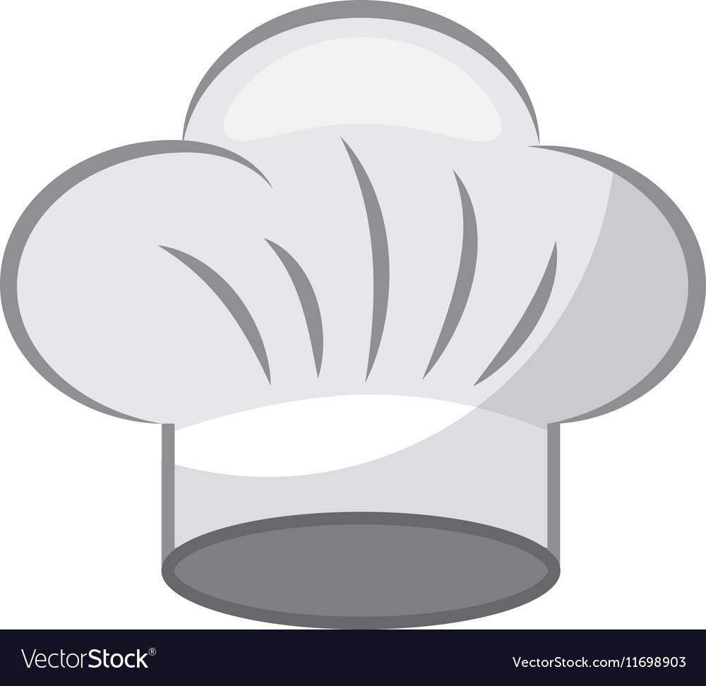 Hat chef uniform isolated icon