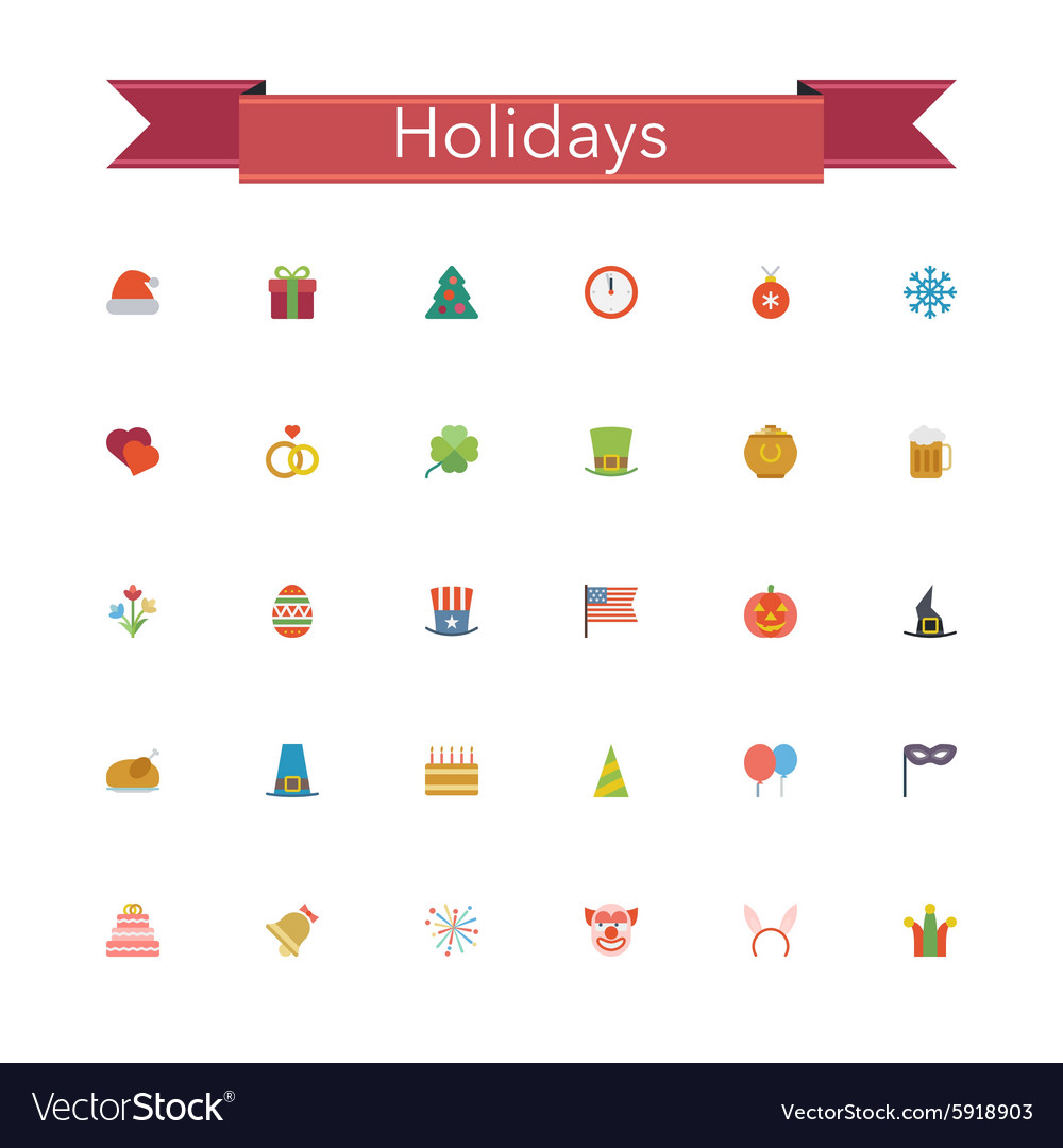 Holidays Flat Icons