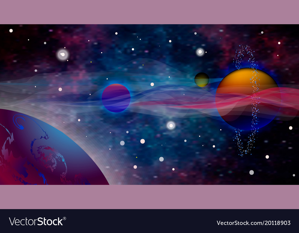 Realistic And Futuristic Space Background Vector Image