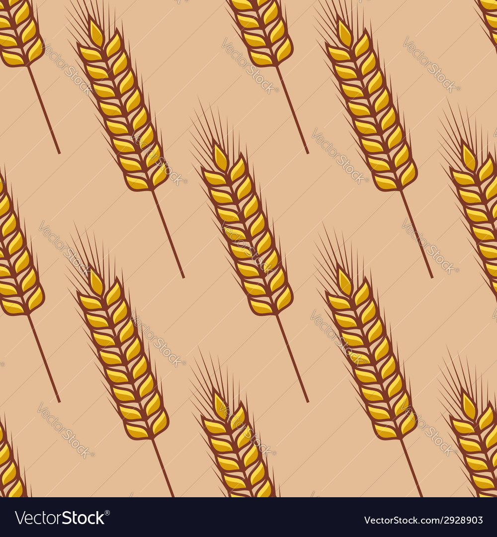 Seamless pattern of cereal ears