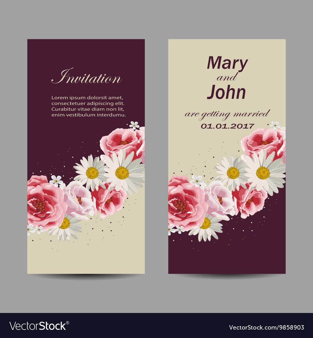 Set of wedding invitation cards design Royalty Free Vector