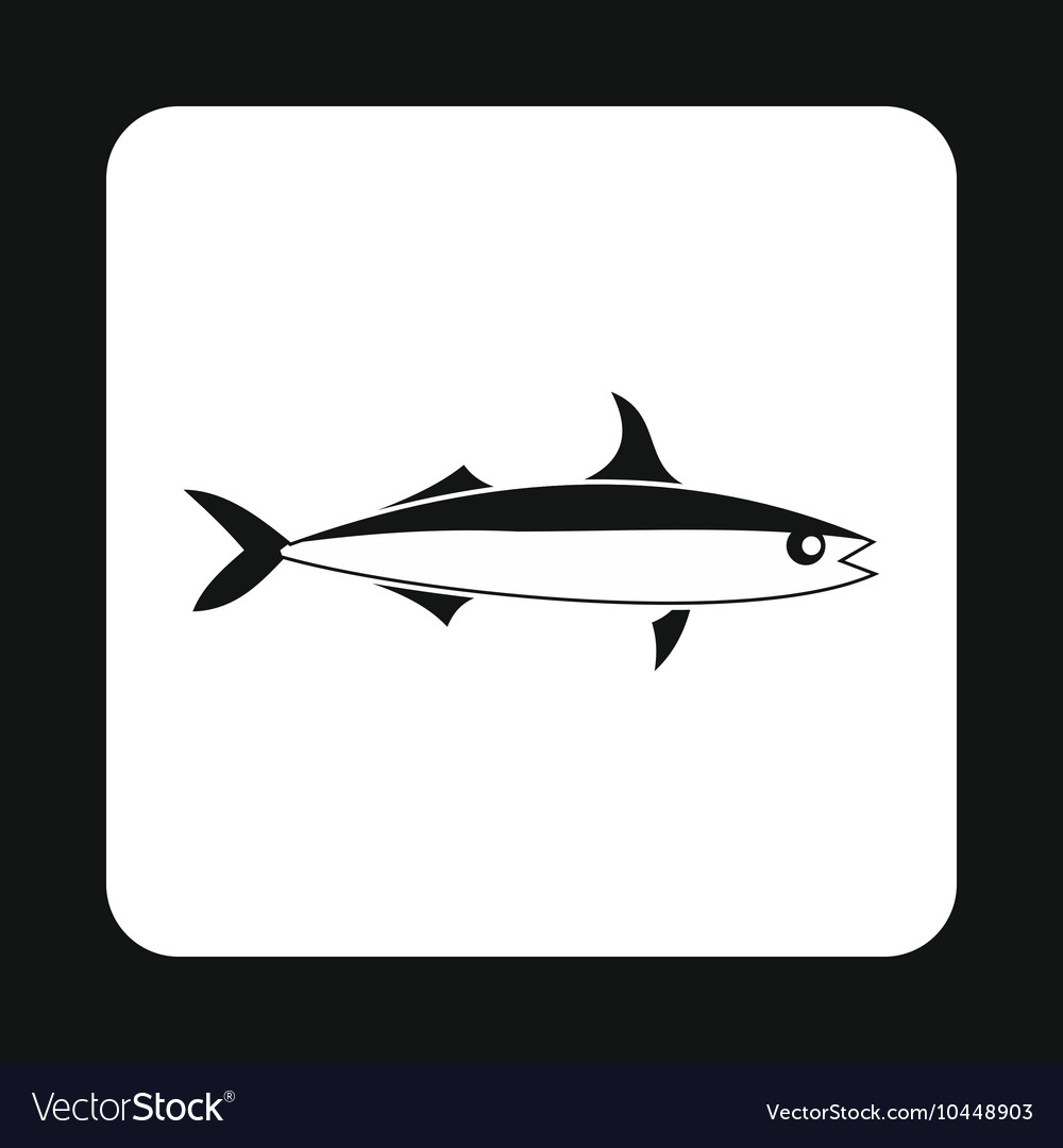 Smelt fish icon simple style
