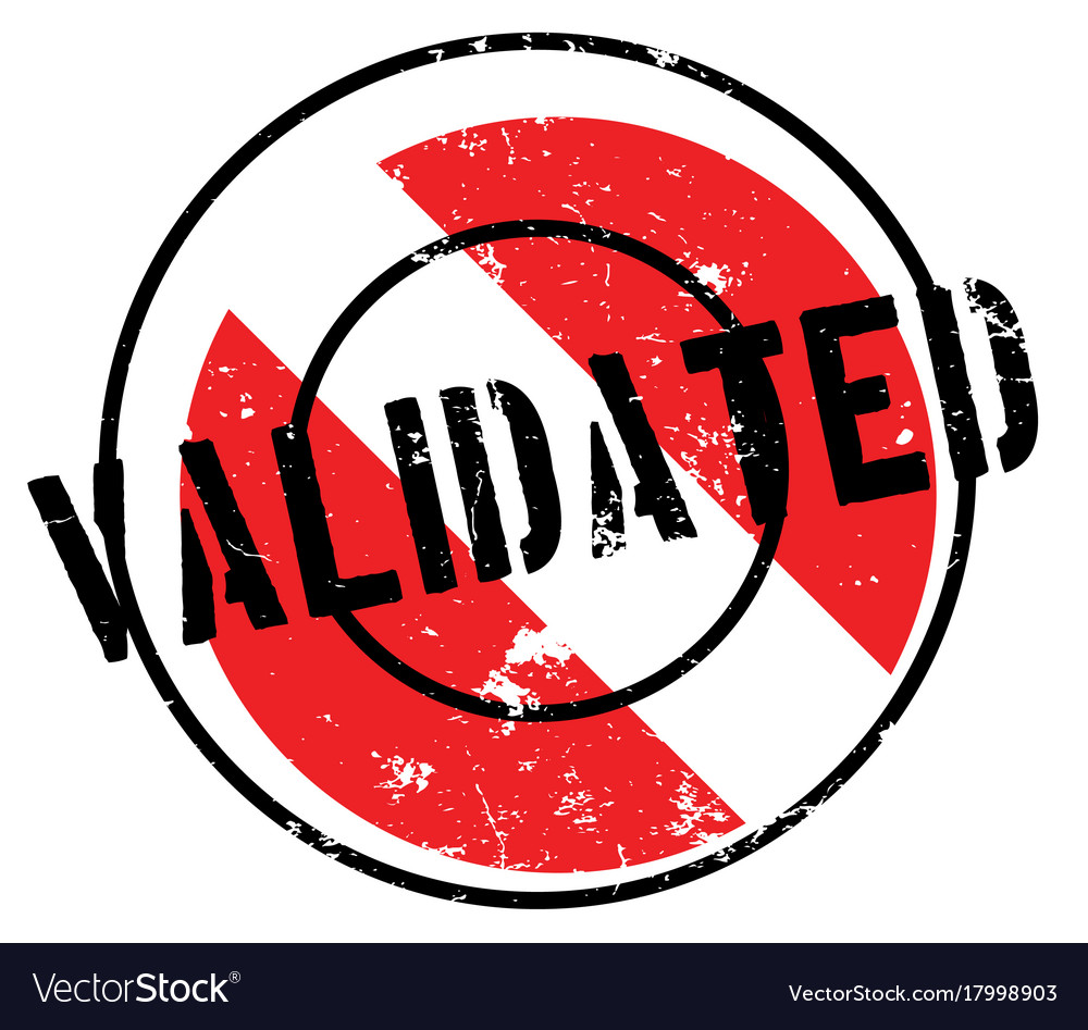 Validated Rubber Stamp Vector Image