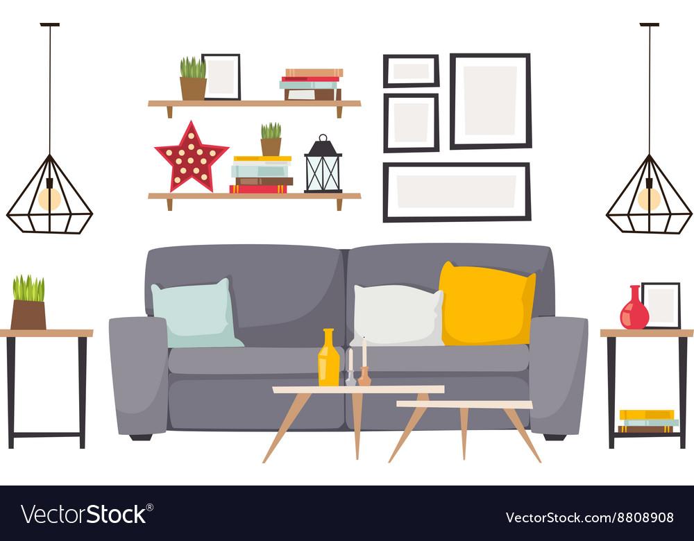 Apartment interior vector image