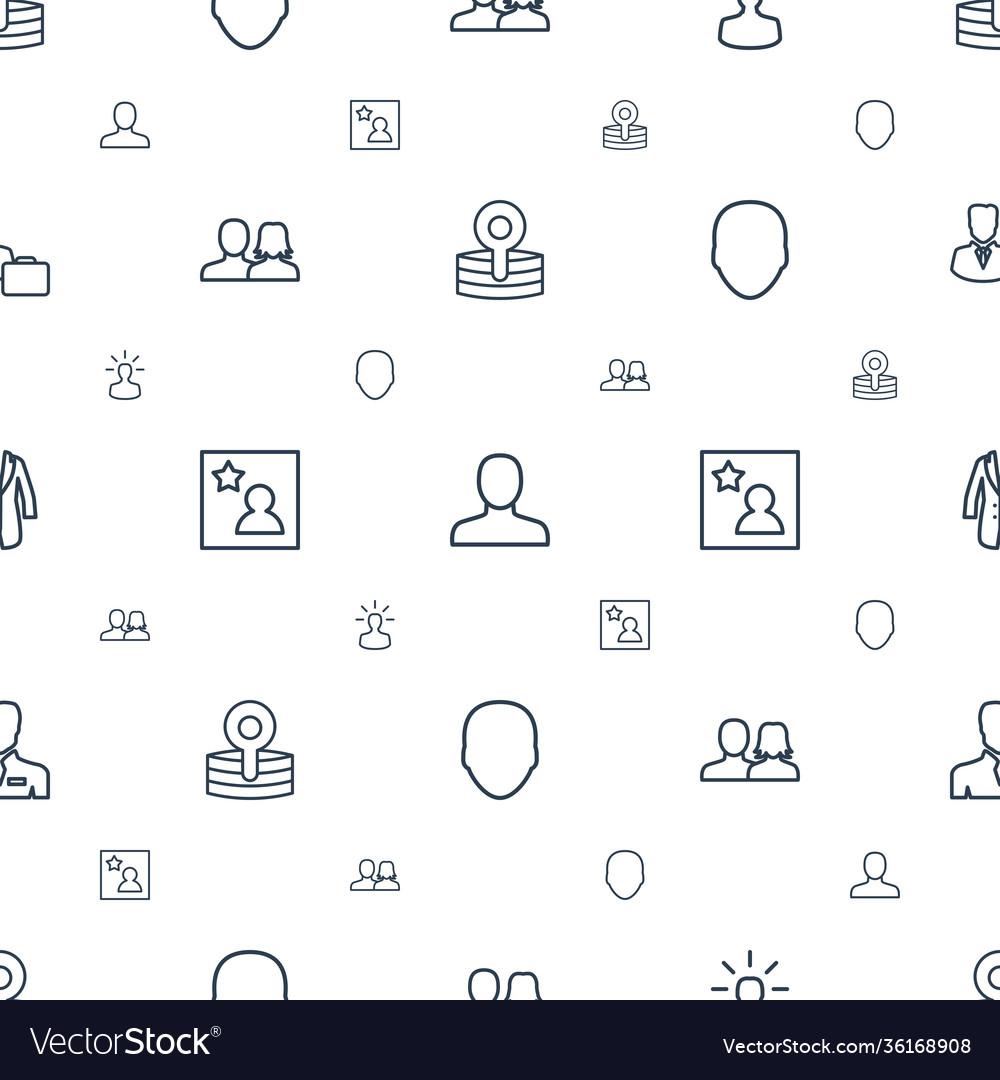 Avatar icons pattern seamless white background