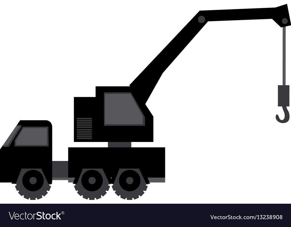 Black car crane icon