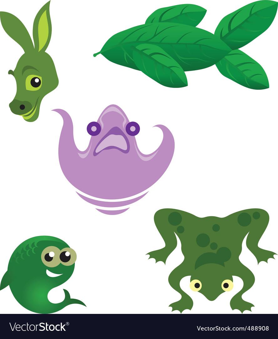 Nature logo elements