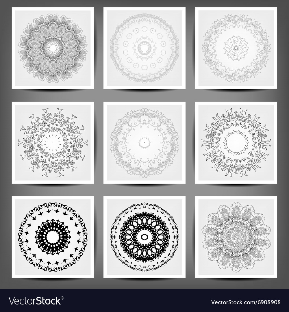 Set of ethnic ornamental floral pattern Hand drawn