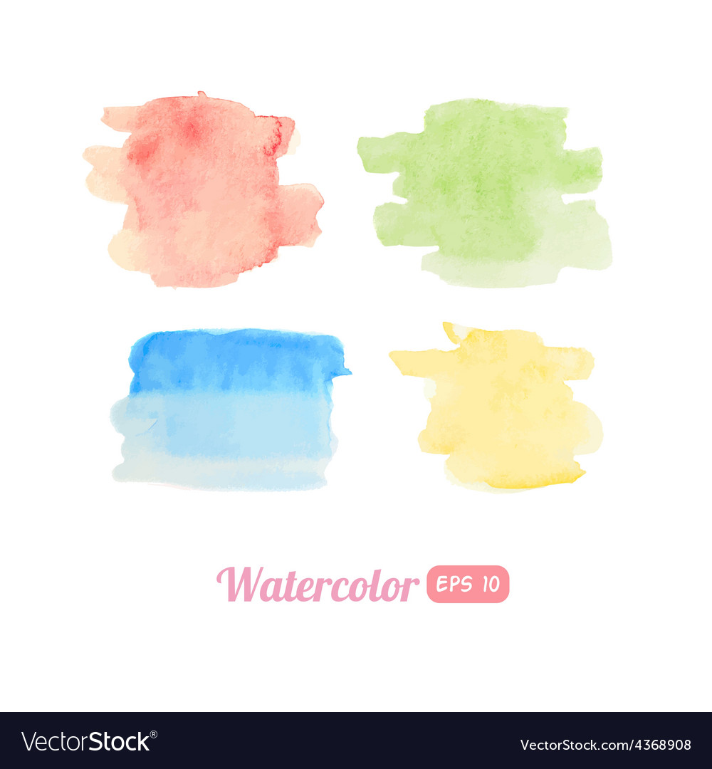 Set of watercolor stains