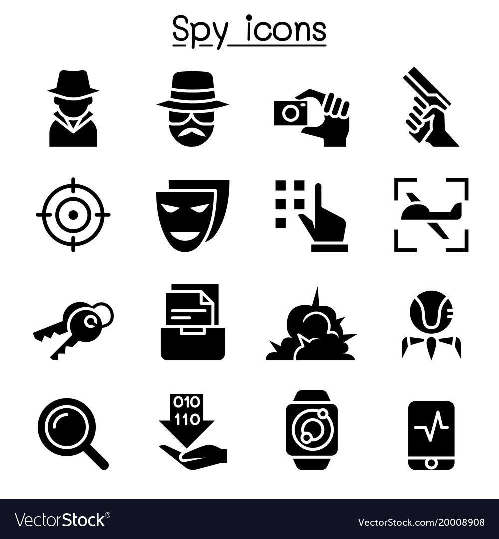 spy icon set graphic design royalty free vector image vectorstock
