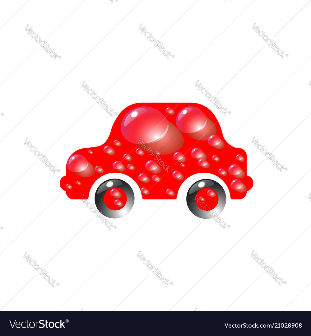The most top-end toy car red color in drops of