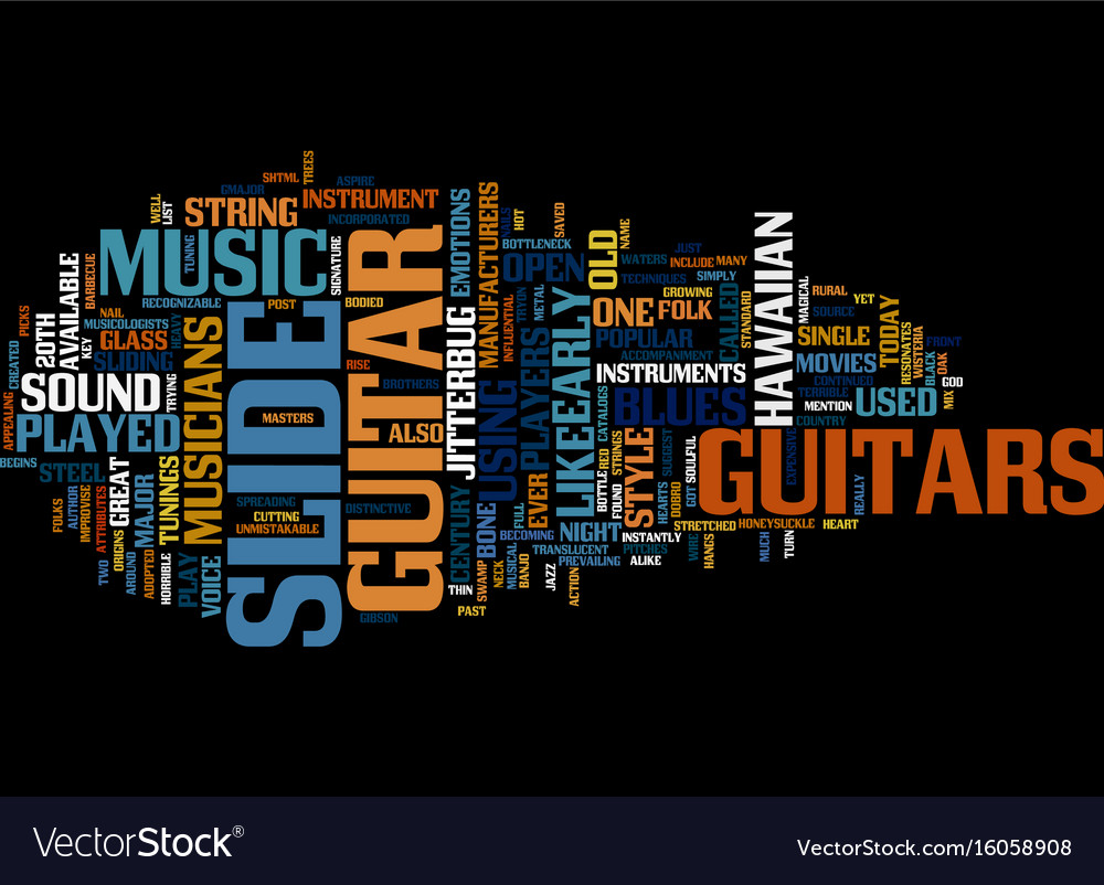 The origins and magic of slide guitar text