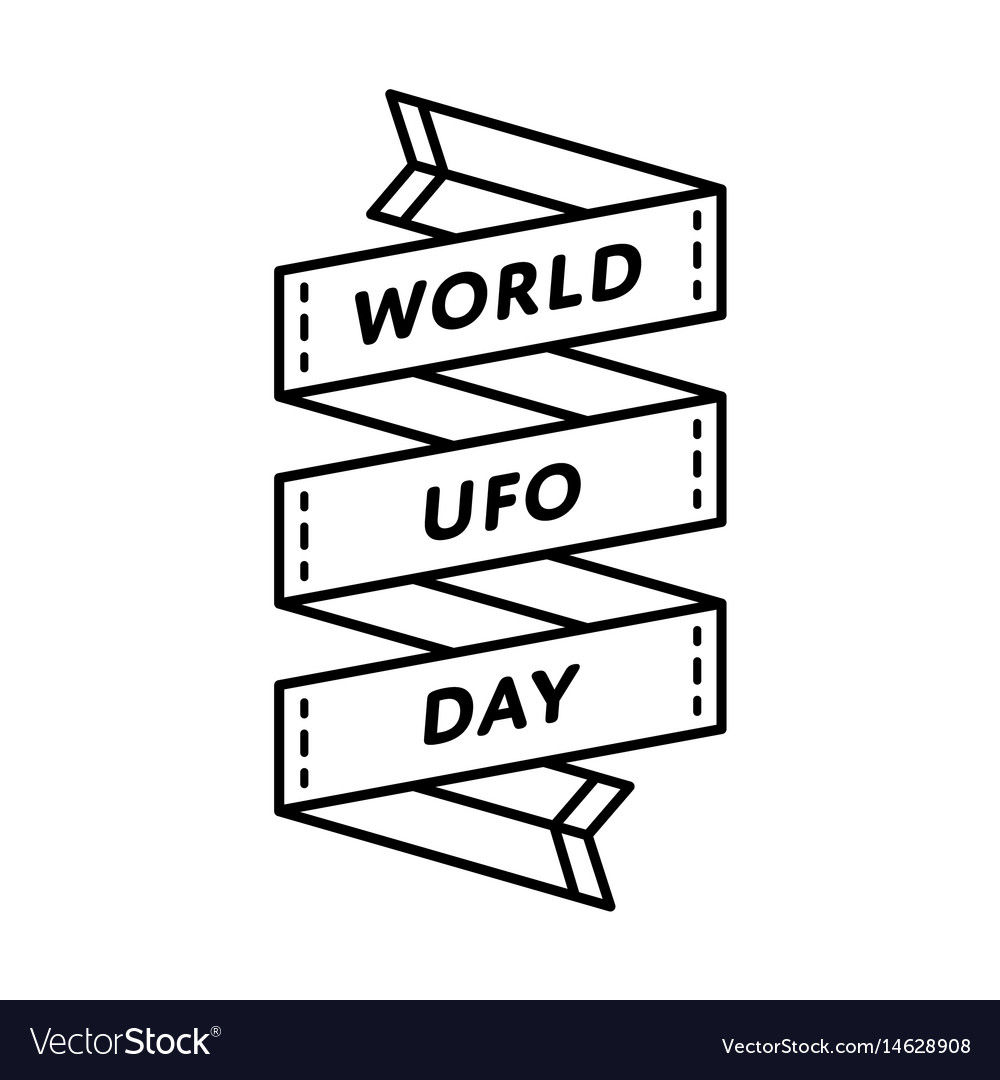 World ufo day greeting emblem vector image