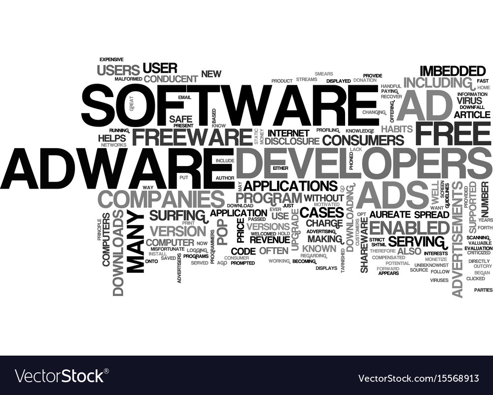 Adware are downloads safe text word cloud concept