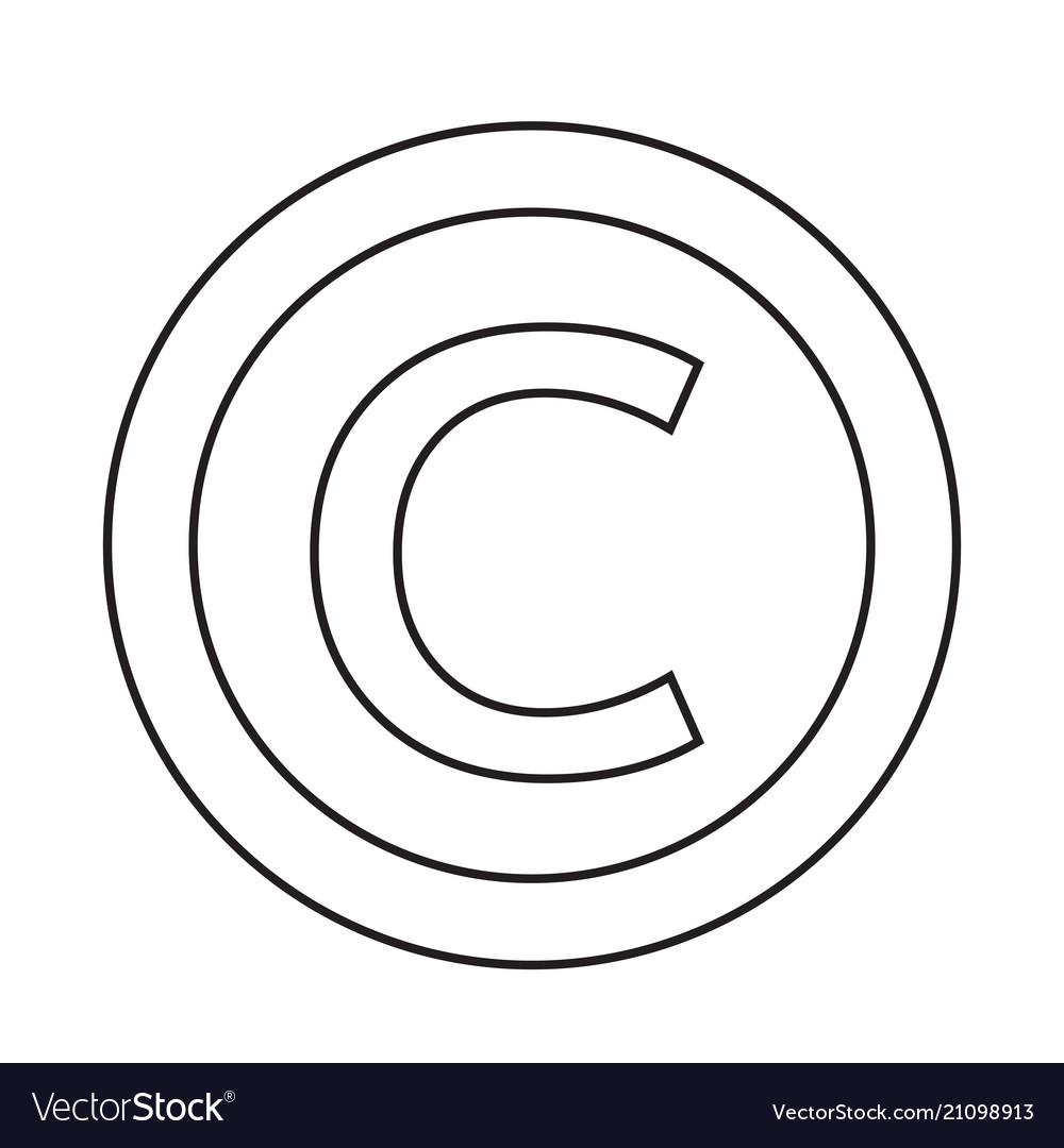 Copyright Symbol Icon Royalty Free Vector Image