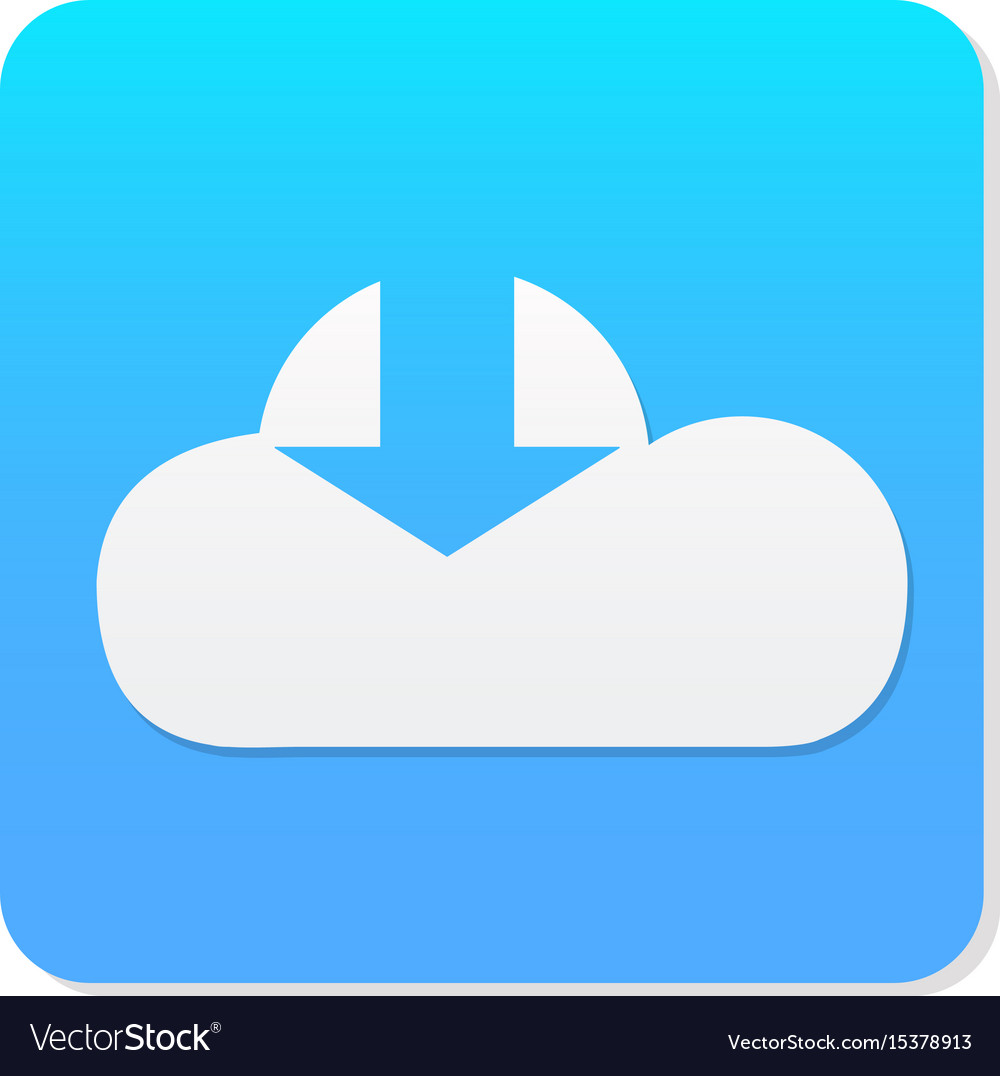 Flat cloud download icon