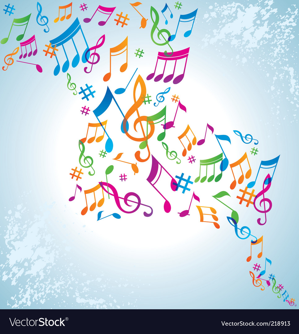 music background vector. Colorful Music Background