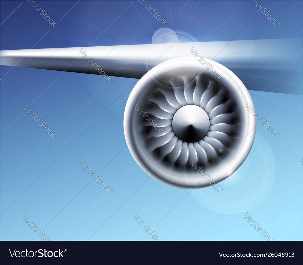 Turbine engine jet for airplane with fan blades in