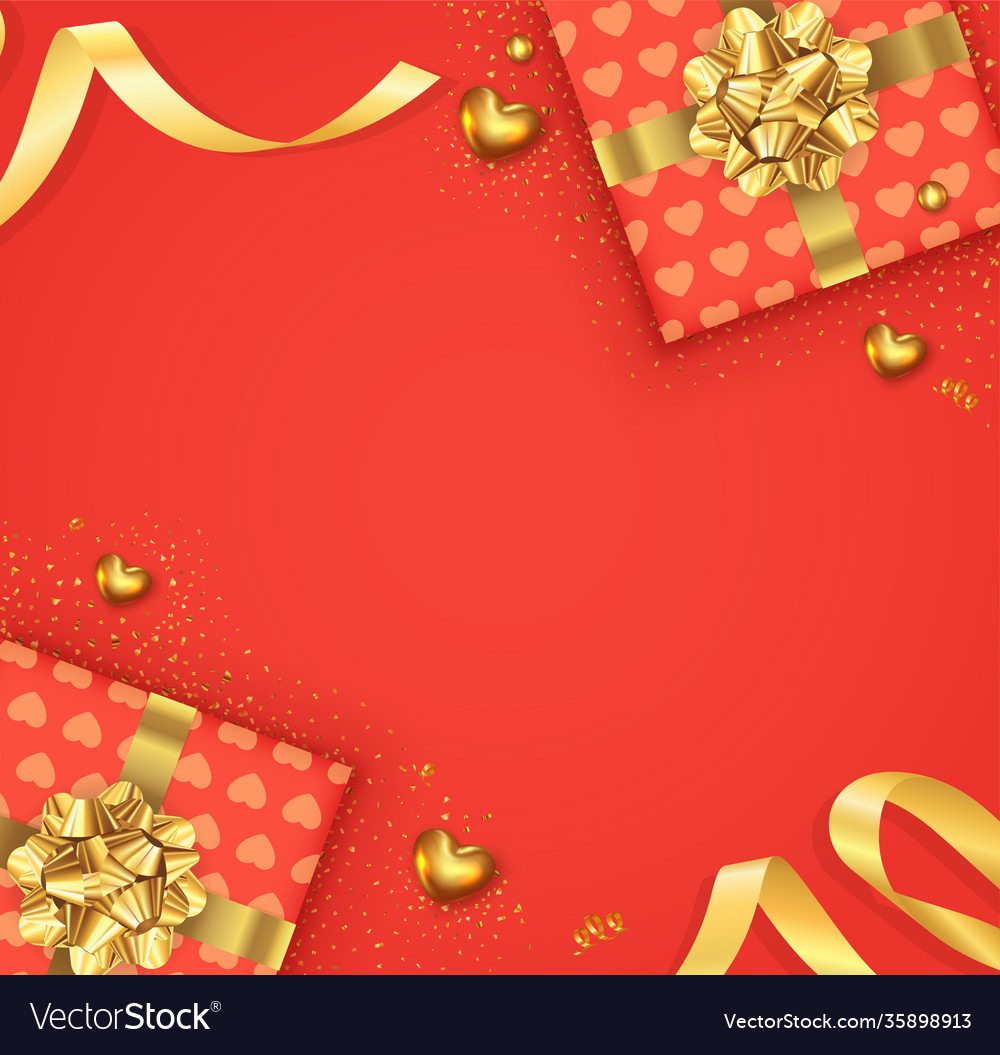 Valentines day background with bow and ribbon