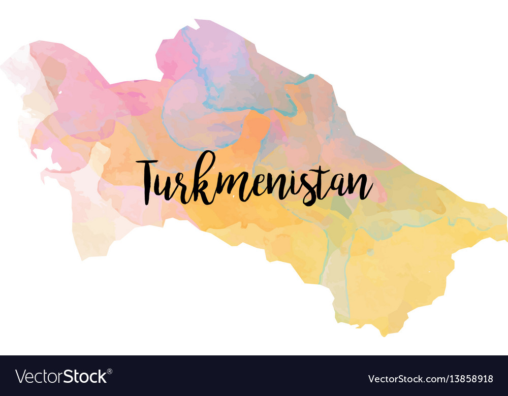 Abstract turkmenistan map vector image