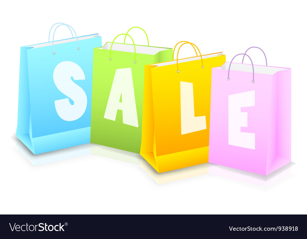 background with shopping bag royalty free vector image