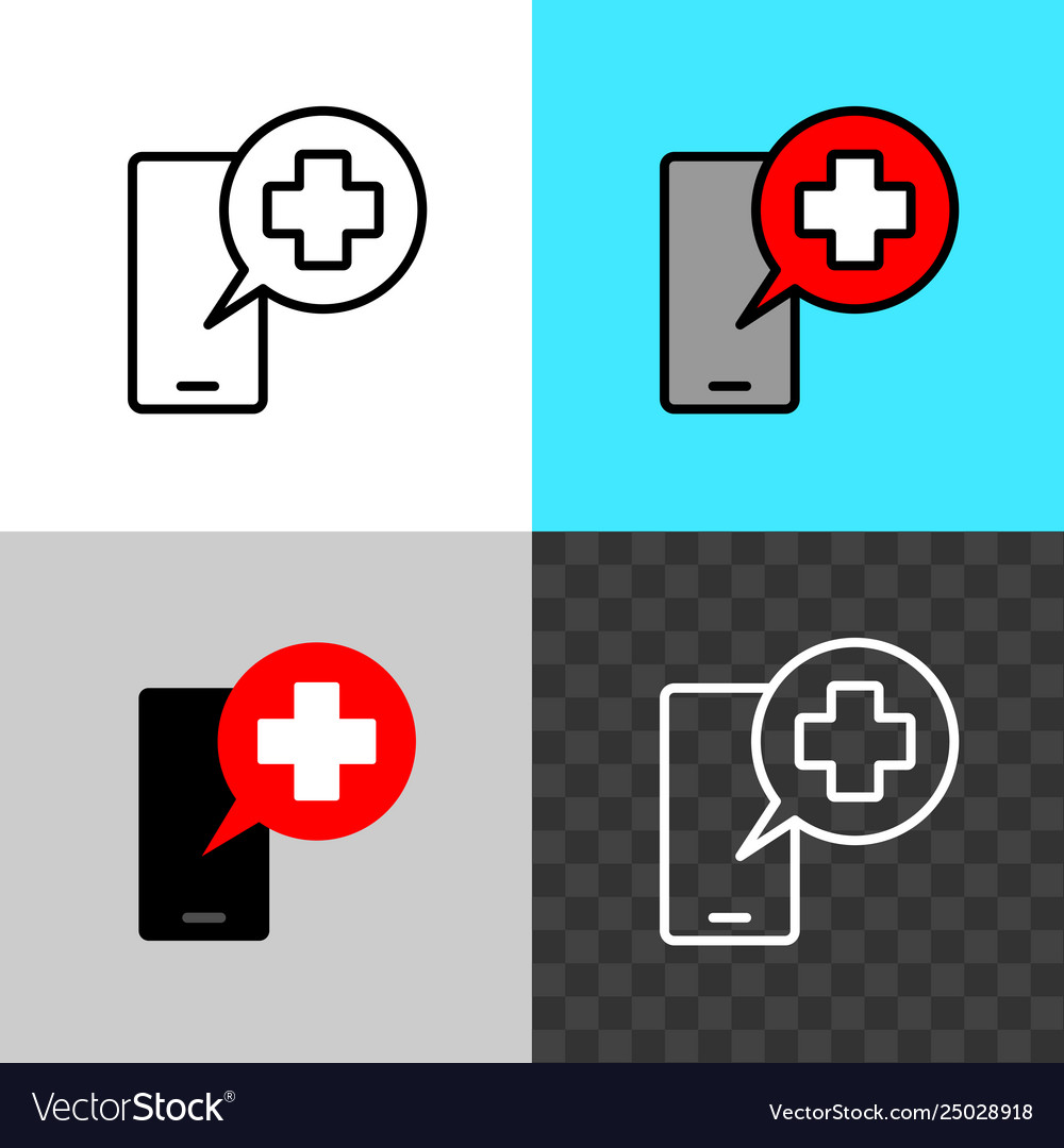 Call doctor symbol smartphone silhouette with
