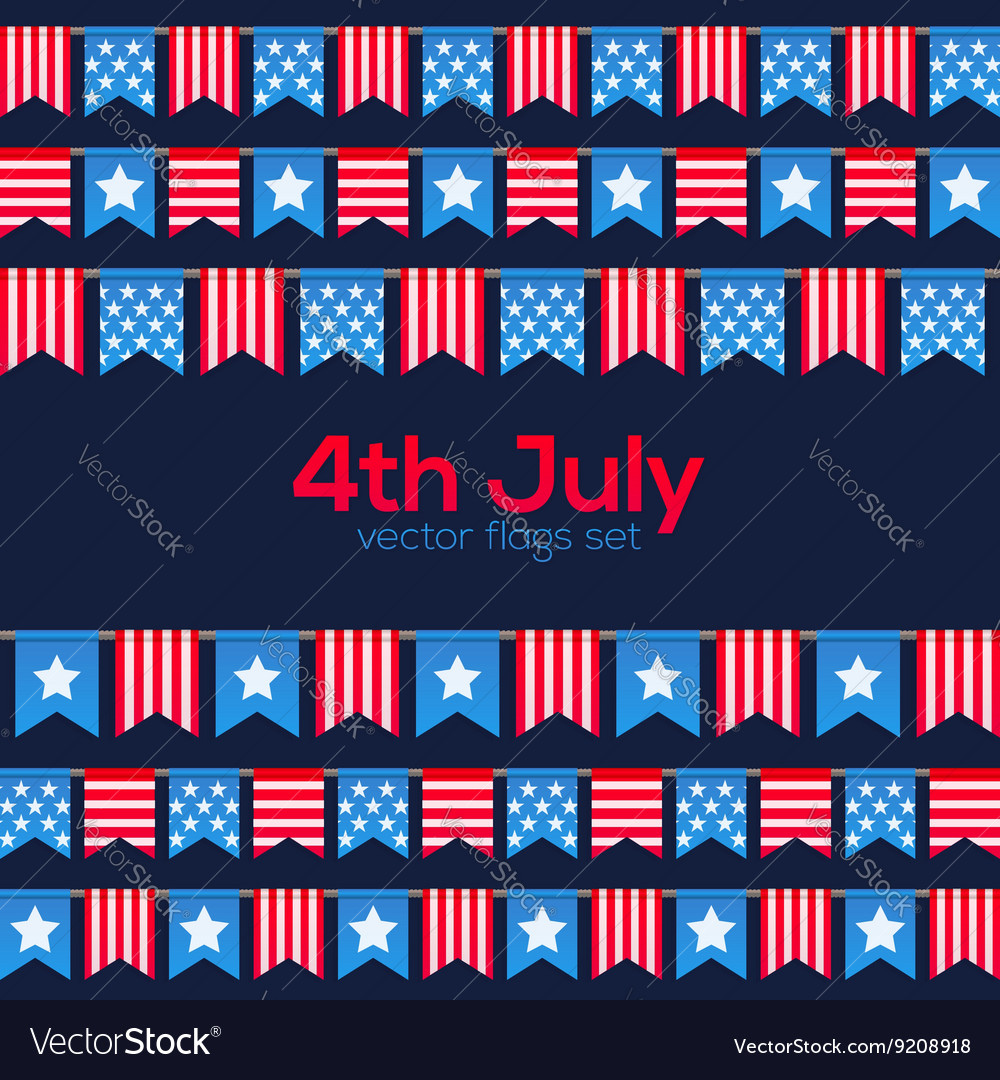 Fourth july usa independence day flags