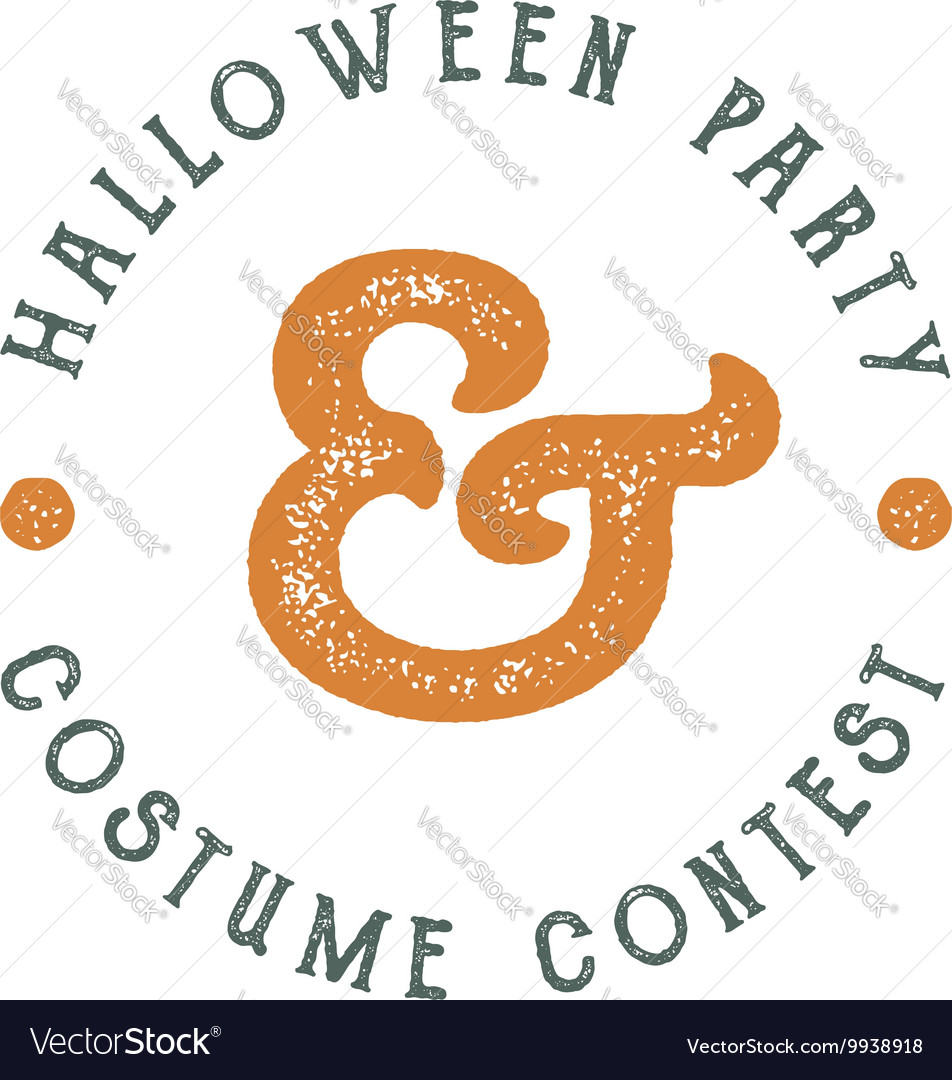 Happy Halloween 2016 vintage Party Label