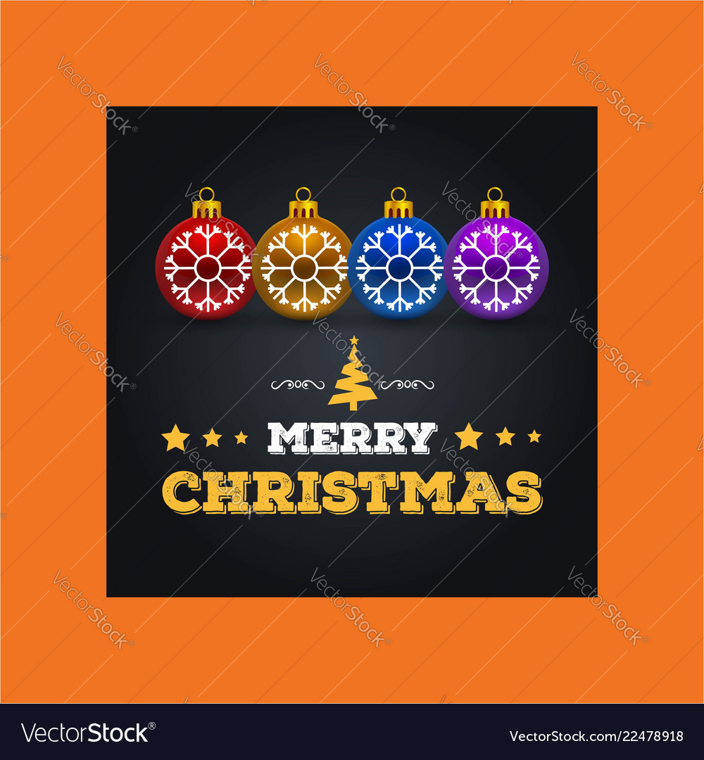 Merry christmas greetings design with yellow