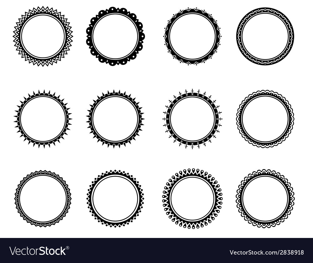 Old fashioned nice circle vector image