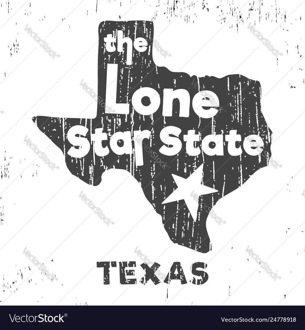 Texas - lone star state t-shirt stamp