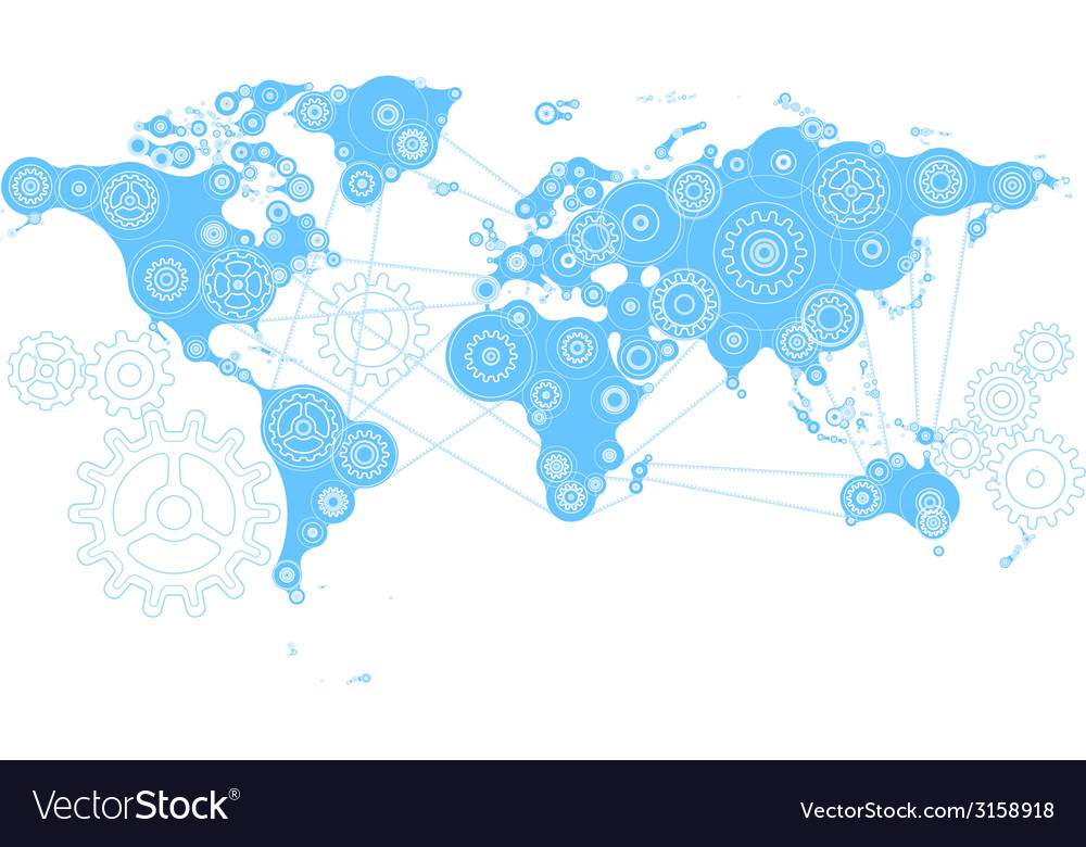 World mechanism vector image