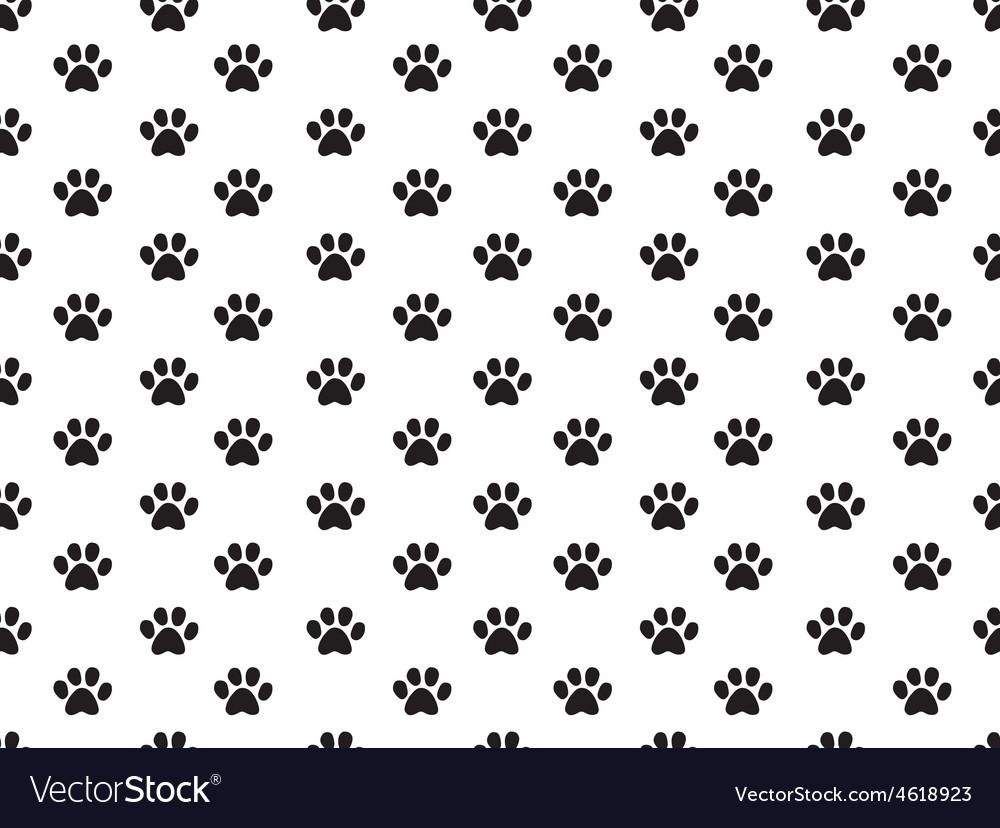 Animal footprint pattern